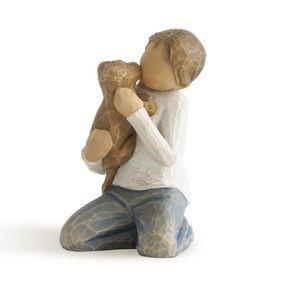 NWB Willow Tree Kindness boy with dog figurine.